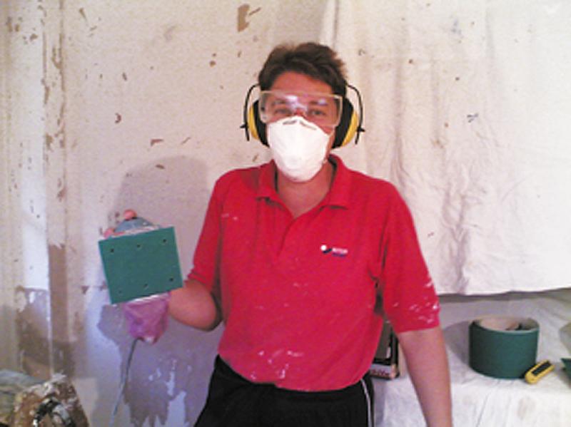 in sanding gear